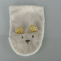 Carters White Teddy Bear Hand Puppet Terry Cloth Washcloth Baby Toy - $19.79