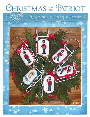 Christmas For The Patriot sleds cross stitch chart Sue Hillis Designs