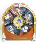 Elvis Presley It's Time To Rock Clock 5 Plate In Jukebox Non Working Clock  - $79.13