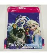 Disney Frozen Elsa with friend Purple Drawstring Bag School Backpack - $14.84