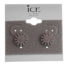 Ice by Jardin Sterling Silver 925 2Cttw CZ Crystal Pave Starburst Stud Earrings image 3