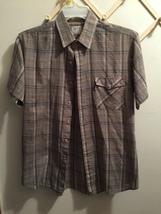 Levi's Men's Button Front S/S Gray Plaid Size Large EUC - $5.99
