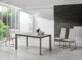 ESF Seven 160/Quatro Ceramic Top & Metal Base Table Dining Set 5Pc Made in Spain