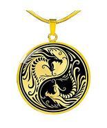 Express Your Love Gifts Yin Yang Dragon Gold Circular Pendant Necklace - $59.35