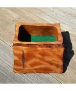 Wood Jewelry Box Curly Redwood Tree Engraved Rustic Handmade Storage #J - $91.99