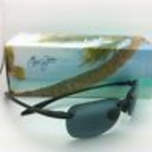 New Maui Jim Sunglasses Sandy Beach Mj 408-02 56-14 Black Frames w/ Grey Lenses - $189.00