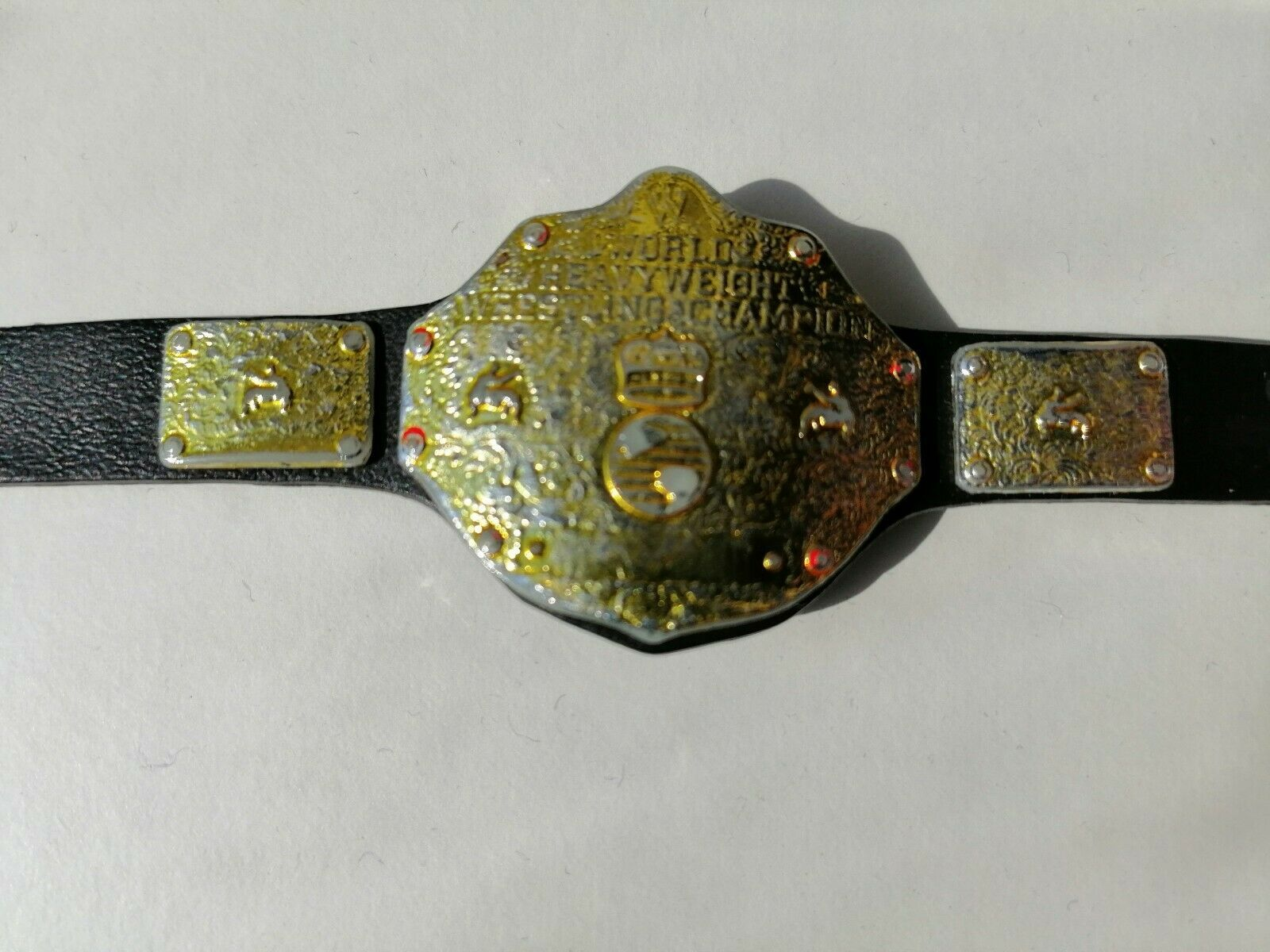 ELITE WORLD HEAVYWEIGHT CHAMPIONSHIP BELT ACCESSORY WWE WRESTLING FIGURE MATTEL image 2