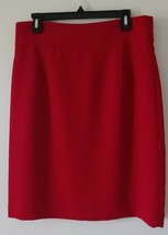 Isabella Demarco Tahari Levin Stunning Red Elegant  Womens Skirt size 12 NEW - $19.80