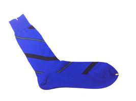 POLO Ralph Lauren Pima Cotton Diagonal Stripe Designer Socks BLUE SIZE 1... - $9.89