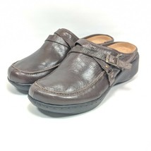 """Easy Spirit Clogs Womens Sz 6.5 Med """"Esdechell"""" Brown Leather Shoes (tu25ep) - $26.99"""