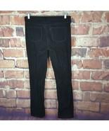 Talbots Corduroy Straight Leg Jeans Womens Size 14 Long Black Flawless 5... - $16.83