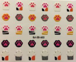 BANG STORE Nail Art 3D Decal Stickers Paw Prints Cat Paw Prints Dog Paw ... - $3.68