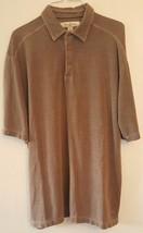 Tommy Bahama Polo Golf Shirt Light Black Short Sleeve Silk Blend Large L - $19.99