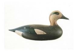 1987 Widgeon Drake Decoy Fourteenth Massachusetts Duck Stamp Print 2P1-10 - $9.70