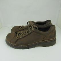 Dr. Martens Mens 11 Size Oxfords Shoes Brown Leather Laces Air Cushion Sole - $32.71