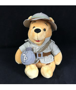 Walt Disney World Winnie The Pooh Beanbag Plush Animal Kingdom Safari Outfit - $13.98