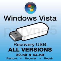 WINDOWS VISTA HOME PREMIUM PROFESSIONAL Recovery Install Restore USB Fla... - $10.99