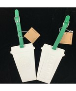 Starbucks Set of 2 Luggage Tags White To Go Coffee Cup Siren Summer 2019... - $34.29