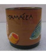 2001 Wassi Art Jamaica Handmade & Painted Ceramic Mug Dwayne Gardner - $34.99