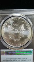 2020 (P) Silver Eagle PCGS MS 69 FS Emergency Issue White Spots Flag Coin 8100 image 4