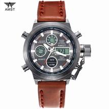 Men Watch Luxury AMST LED Digital Watch Sport Casual Military Quartz Wri... - $16.99