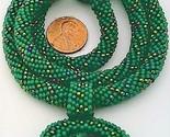Crochet green paua shell necklace 6 thumb155 crop