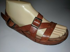 Kalso Earth Shoes Strappy Brown Leather Comfort Sandals 7.5 B - €27,45 EUR