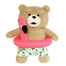 Ezen Creation Flamingo Tube Teddy Bear Stuffed Animal Plush Toy 30cm 11.8 inches