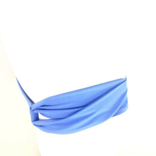 L Space Sensual Solids Loop Bikini Bottoms Hipster Womens Blue XS Extra Small