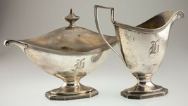 Gorham Sterling Silver Holloware Sugar and Creamer A9163 and A9164 - $956.97