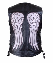 The Walking Dead Governor Daryl Dixon Angel Wings Black Real Leather Bik... - $59.99+