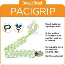 BooginHead Baby Newborn PaciGrip Pacifier Clip Delicate Polka Dots Green... - $9.99