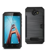 REIKO COOLPAD DEFIANT SLIM ARMOR HYBRID CASE WITH CARD HOLDER IN BLACK S... - $8.54
