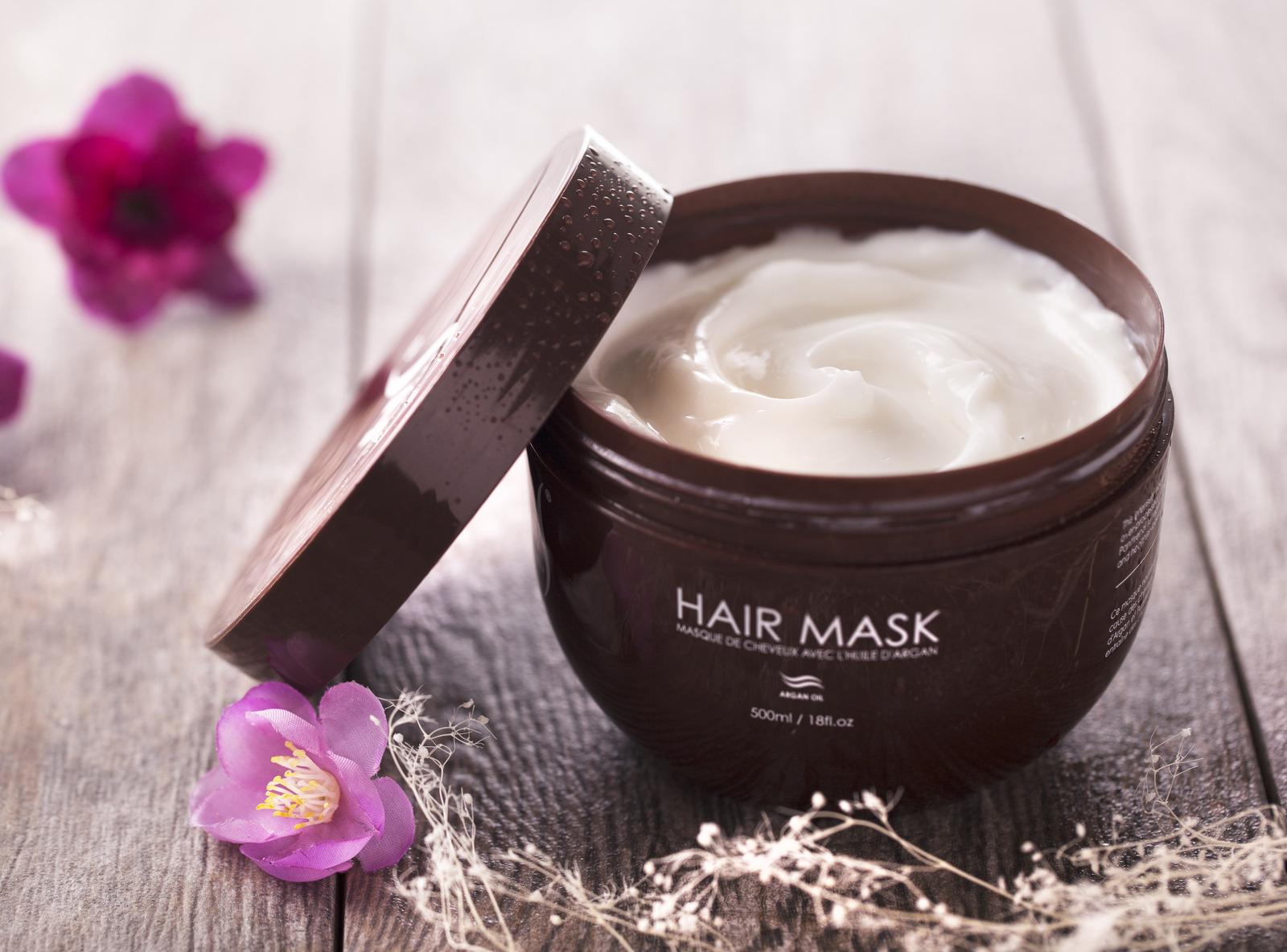 Herstyler Argan Oil Hair Mask | Hair Mask For Damaged Hair | 500 ml. / 18 fl.oz.