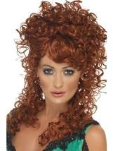 Long Auburn Frizzy Wig, Saloon Girl Wig, Wild West Fancy Dress Accessory... - £10.16 GBP