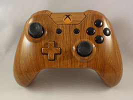 Wood Grain Hydro Dipped Wireless Controller - Orange LED - Rapid fire - ... - $79.99