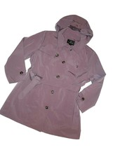 London Fog Trench rain dress Coat w removable hood Aurora purple size 2X... - $109.35