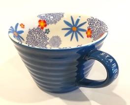Starbucks 2007 Blue Floral 12oz. Coffee Cup - $29.99