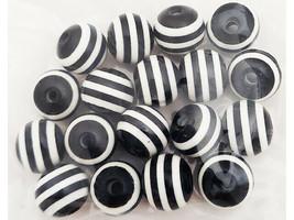Bead Design In Bloom 10mm Black & White Beads #210054 image 2