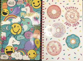 2 Pen+Gear 2019 - 2020 Weekly Monthly Planner Calendar Donuts Unicorn 8 ... - $11.88