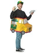 Taco Food Truck Adult Costume Tunic Food One Size Halloween Party Unique... - £42.56 GBP