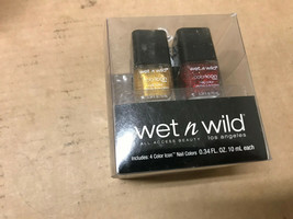 Wet 'n Wild Color Icon Nail Polish Gift Set (4-pack) DAMAGED - ASSORTED ... - $7.36
