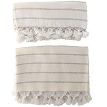 The Loomia Turkish Hand Towel Set of 2 Deniz Handwoven Series Bamboo Cot... - $30.34