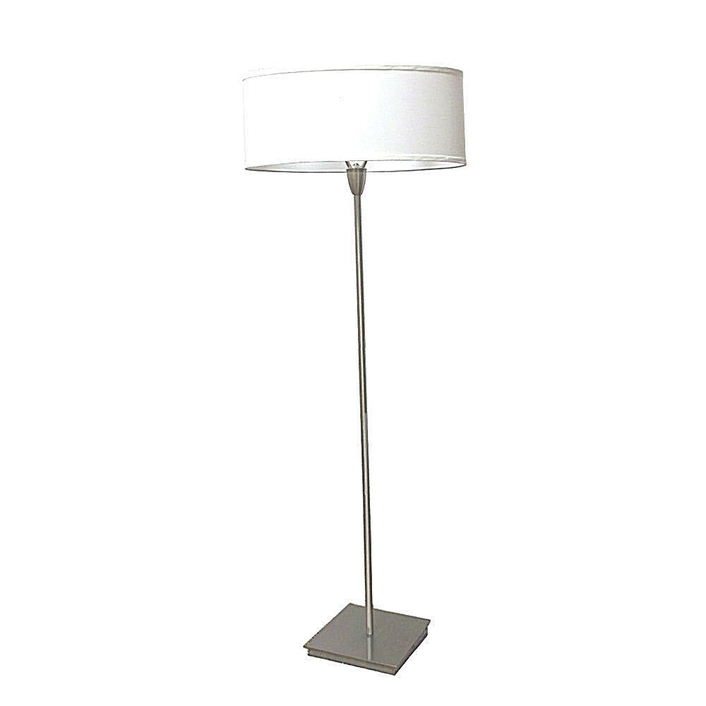 Primary image for Two lights Oval Shade Accent Brushed Nickel Floor Lamp 62in Height