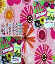 Spring Flower Garden Twin Comforter Sheets Decals 5PC Bedding Set New - $106.42