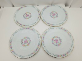 Liling Fine China Dinner Plates Set of 4 Yung Shen White Roses Keepsake ... - $24.18