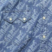 Levi's Men's Classic Casual Denim Printed Sawtooth Western Shirt image 3