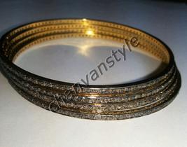 Victorian Inspire 8.15Ct Rose Cut .925 Silver 4 Pcs Antique Look Bracele... - $592.18