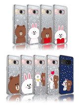 LINE Friends Light UP Case Galaxy S8 / S8+ Character Phone Cover Mobile ... - $43.98
