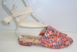 Sam Edelman Size 7 M TAI Coral Fabric Ankle Wrap Sandals New Womens Shoes - $98.01